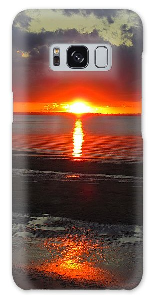 Blazing Sunset Galaxy Case by Ramona Johnston