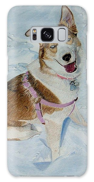 Blue - Siberian Husky Dog Painting Galaxy Case