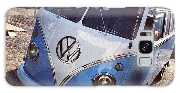 Vw Camper Galaxy Case - Blue And White Splitty by Jimmy Lindsay