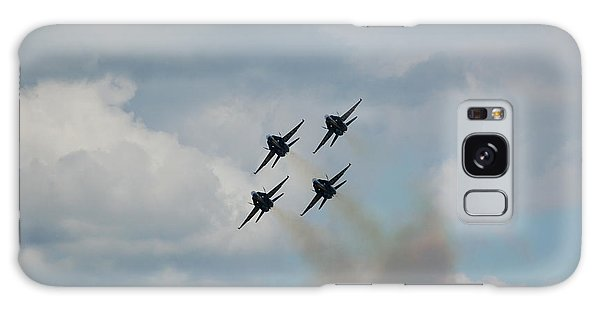 Blue Angels Roaring By Galaxy Case by Randy J Heath