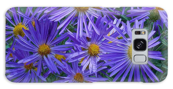 Blue Asters Galaxy Case