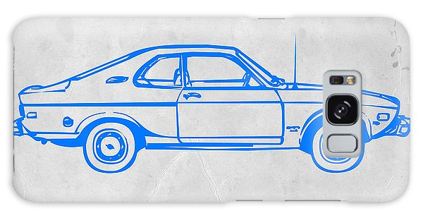 Old Road Galaxy Case - Blue Car by Naxart Studio