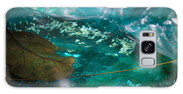Blue Glass Bird Bath Galaxy Case