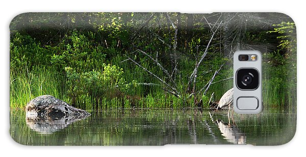 Blue Heron Long Pond Wmnf Galaxy Case