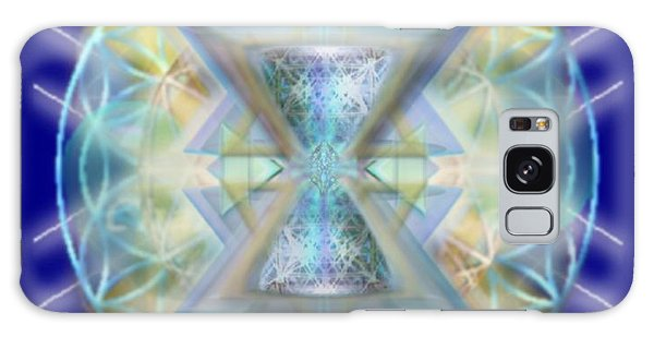 Blue High-starred Chalices On Flower Of Life Galaxy Case