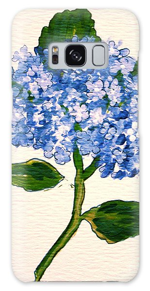Blue Hydrangea Galaxy Case by Leea Baltes