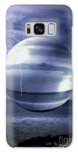 Blue Sea Hover Bubble Galaxy Case by Vicki Ferrari