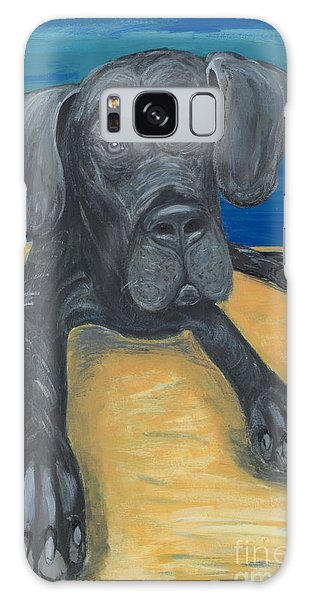 Blue The Great Dane Pup Galaxy Case