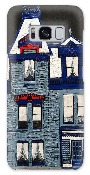 Blue Victorian Mansion Montreal Galaxy Case