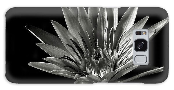 Blue Water Lily In Black And White Galaxy Case by Endre Balogh