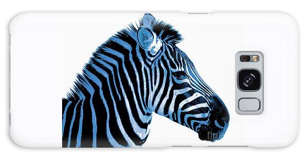 Blue Zebra Art Galaxy Case