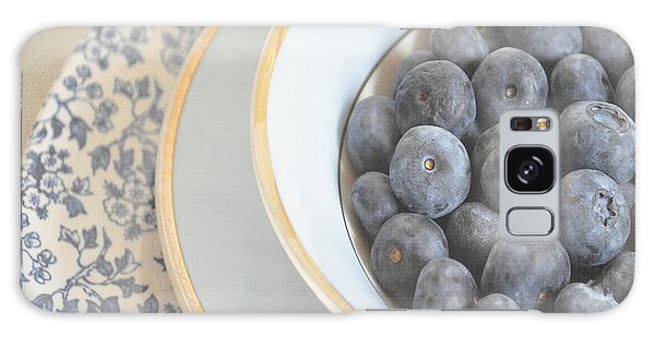 Blueberries In Blue And White China Bowl Galaxy Case by Lyn Randle