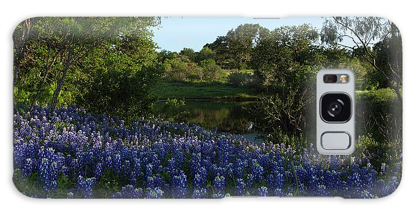 Bluebonnets At The Pond Galaxy Case