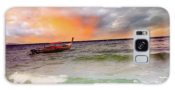 Phi Phi Island Galaxy Case - Boat by MotHaiBaPhoto Prints