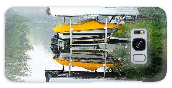 Boat Reflections Galaxy Case by Ann Murphy