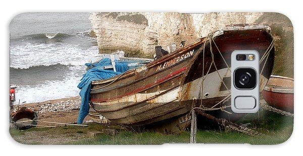 Boats At Thornwick Bay Galaxy Case