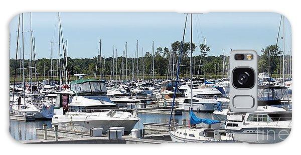 Boats At Winthrop Harbor Galaxy Case by Debbie Hart