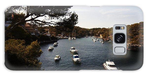 Boats In Cala Figuera Galaxy Case