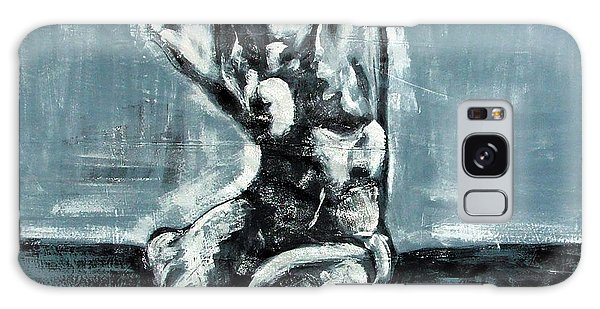 Bold Expressionistic Figure Painting Of Nude Female Reaching Upward To The Sky With Her Arm In Bw Galaxy Case