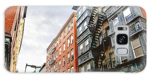 Brick House Galaxy Case - Boston Street by Elena Elisseeva
