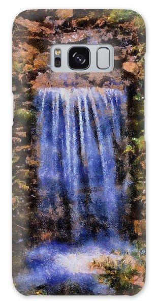 Botanical Garden Falls Galaxy Case by Lynne Jenkins