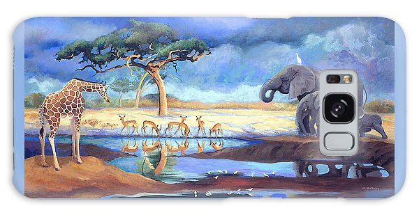 Botswana Watering Hole Galaxy Case