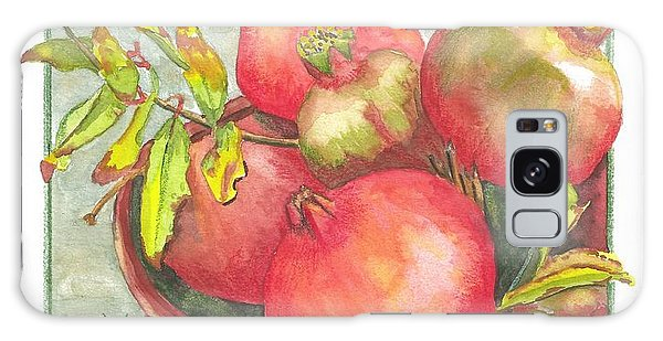 Bowl Of Pomegranates Galaxy Case by Terry Taylor