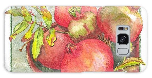 Bowl Of Pomegranates Galaxy Case