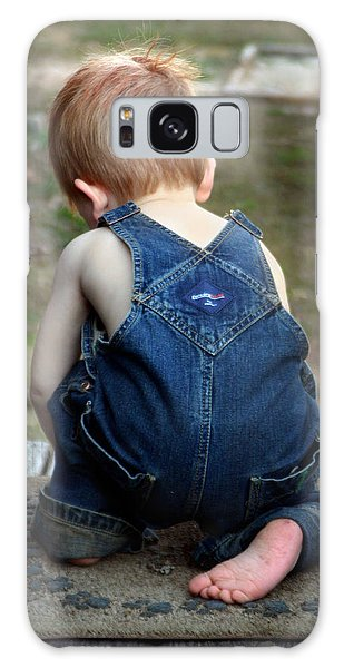 Boy In Overalls Galaxy Case by Kelly Hazel
