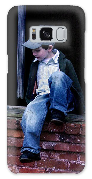 Boy In Window Galaxy Case by Kelly Hazel