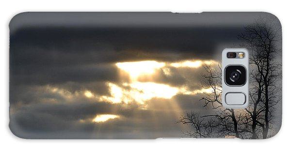 Break In The Clouds Galaxy Case by Bonnie Myszka