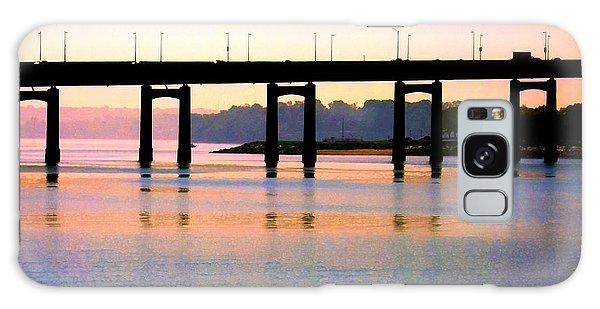 Bridge At Sunset Galaxy Case