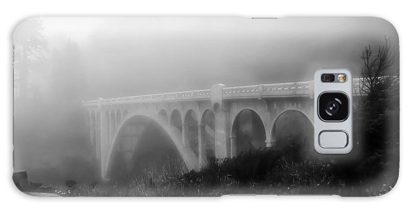 Bridge In Fog Galaxy Case by Katie Wing Vigil