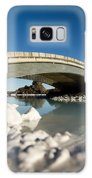 Bridge Over The Blue Lagoon Galaxy Case by Andres Leon