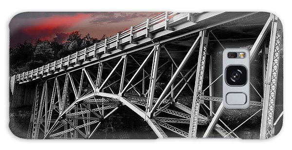 Bridge Under Blood Red Skies Galaxy Case