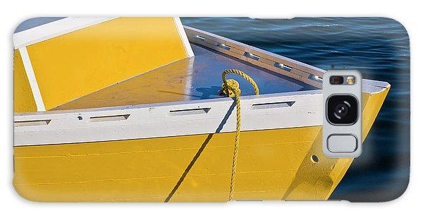 Bright Yellow Boat Galaxy Case