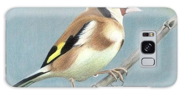British Goldfinch Galaxy Case by Ana Tirolese