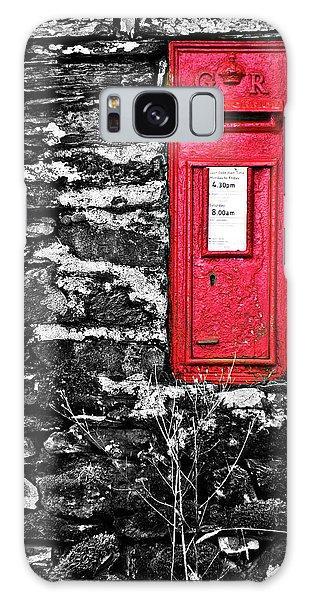 Stone Wall Galaxy Case - British Red Post Box by Meirion Matthias