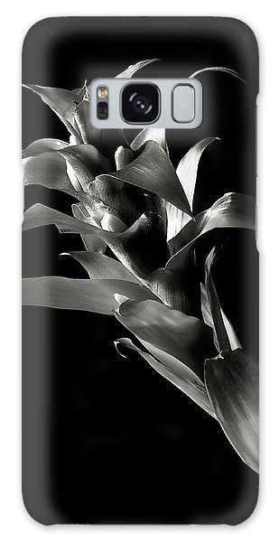 Bromeliad In Black And White Galaxy Case by Endre Balogh