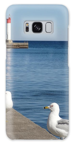 Bronte Lighthouse Gulls Galaxy Case