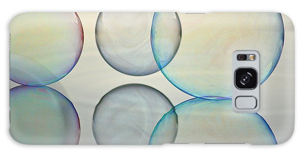 Bubbles On The Water Galaxy Case by Cathie Douglas