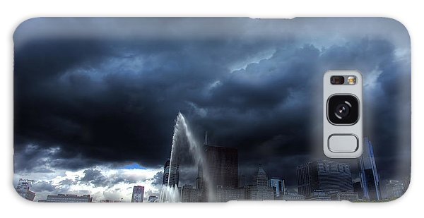 Buckingham Fountain Storm Galaxy Case