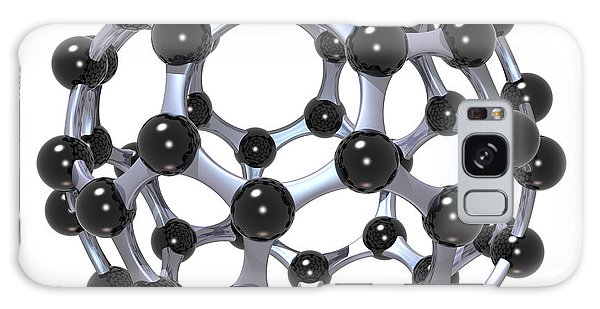 Galaxy Case featuring the digital art Buckminsterfullerene Or Buckyball C60 18 by Russell Kightley