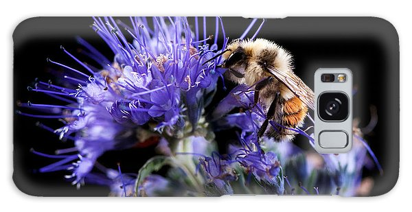 Bumble Bee On Blue Flower Galaxy Case