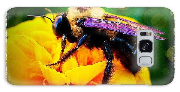 Bumblebee With Bokeh Galaxy Case by Judi Bagwell