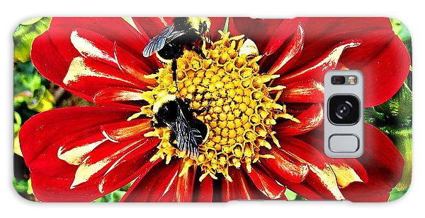 Busy Bees Galaxy Case by Nick Kloepping