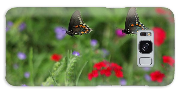 Butterfly Chase Galaxy Case by Susan Rovira