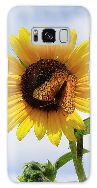 Butterfly On A Sunflower Galaxy Case