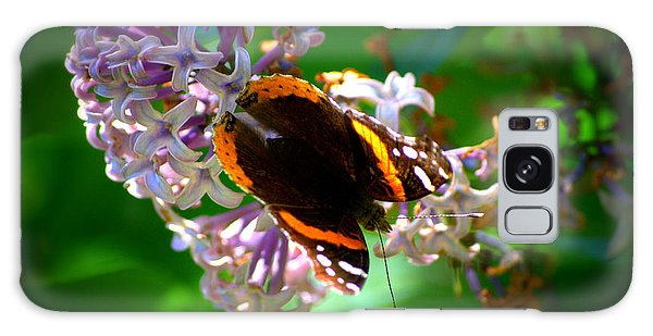 Butterfly On Lilac Galaxy Case