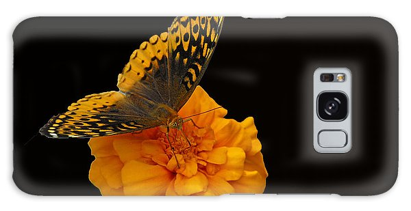 Butterfly Visitor Galaxy Case by Cindy Manero